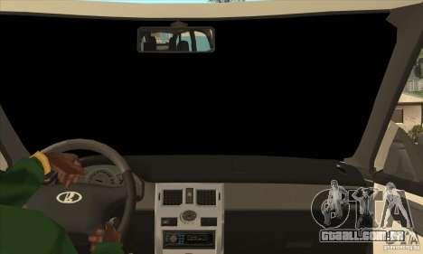 VAZ LADA Priora conversível para GTA San Andreas vista interior