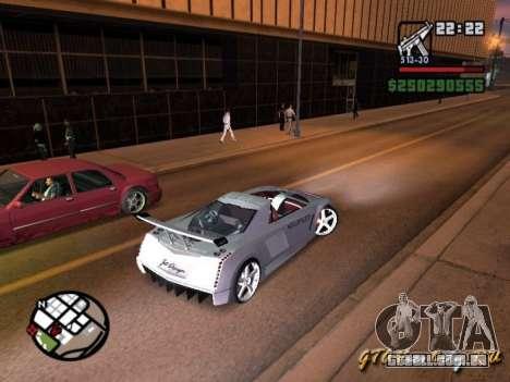 Cadillac Cien The SHARK DREAM Tuning para GTA San Andreas esquerda vista