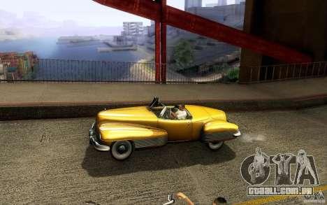 Buick Y-Job 1938 para GTA San Andreas vista inferior