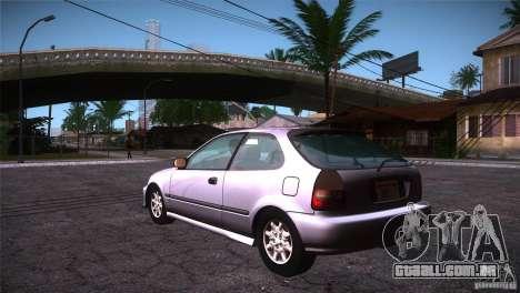 Honda Civic Tuneable para GTA San Andreas traseira esquerda vista
