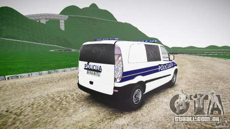 Mercedes Benz Viano Croatian police [ELS] para GTA 4 vista lateral
