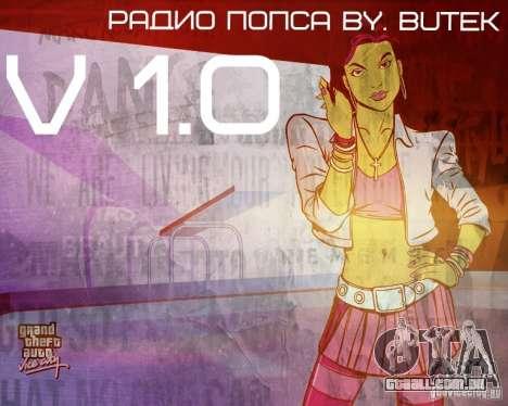 Rádio popsa por BuTeK para GTA Vice City