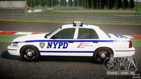 Ford Crown Victoria NYPD [ELS] para GTA 4 esquerda vista