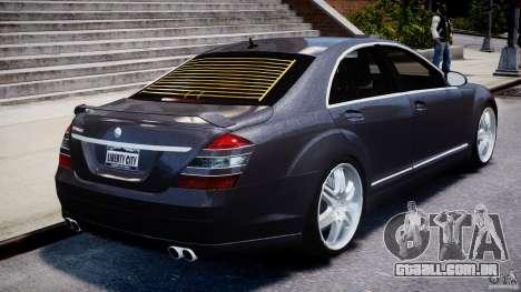 Mercedes-Benz S-Class W221 BRABUS SV12 para GTA 4 vista inferior