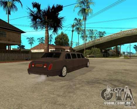 Rolls Royce Silver Seraph para GTA San Andreas traseira esquerda vista