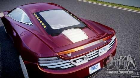 McLaren MP4-12C [EPM] para GTA 4 vista superior
