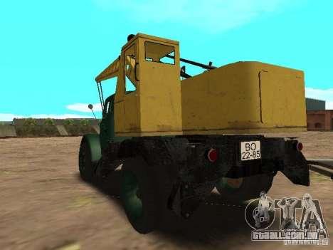 Guindaste móvel de GAZ-51 para GTA San Andreas traseira esquerda vista