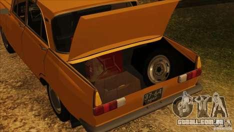 Moskvich 412 v 2.0 para as rodas de GTA San Andreas