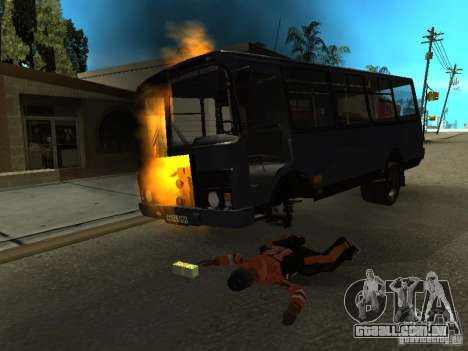 Wrecked car fix para GTA San Andreas por diante tela