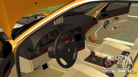 BMW 730i Taxi para GTA San Andreas vista interior