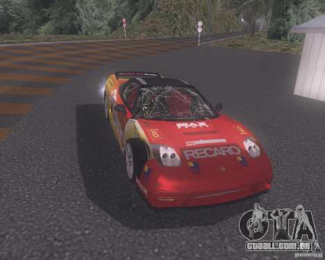 Honda NSX Japan Drift para GTA San Andreas vista superior