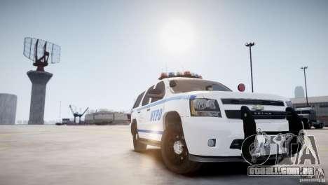 Chevrolet Tahoe 2012 NYPD para GTA 4 vista direita