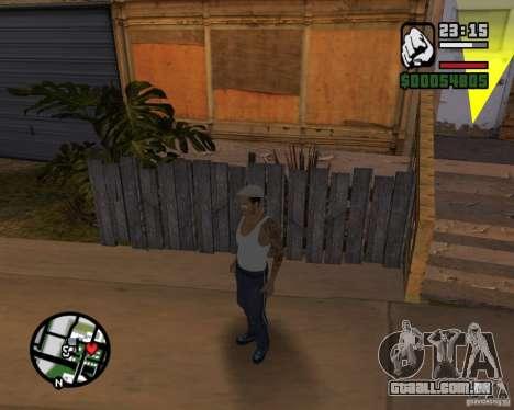 CJ Gopnik para GTA San Andreas por diante tela