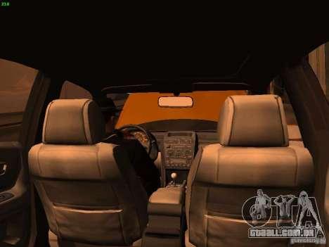 Lexus IS300 Taxi para vista lateral GTA San Andreas