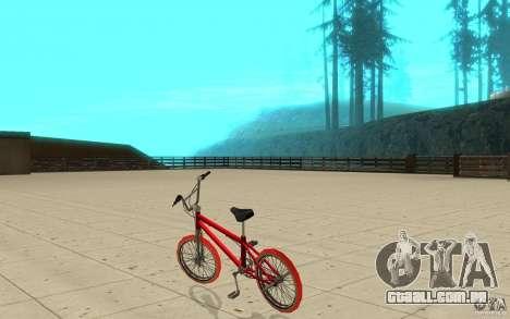 Zeros BMX RED tires para GTA San Andreas traseira esquerda vista