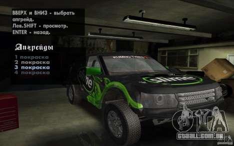 Bowler Nemesis para GTA San Andreas vista interior