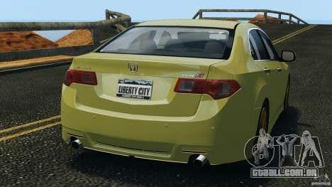 Honda Accord Type S 2008 para GTA 4 traseira esquerda vista