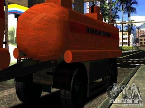 MAZ 533702 caminhão para vista lateral GTA San Andreas