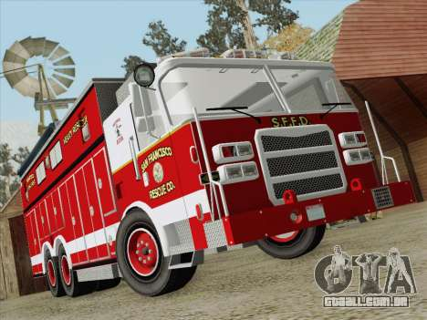 Pierce Walk-in SFFD Heavy Rescue para GTA San Andreas vista inferior
