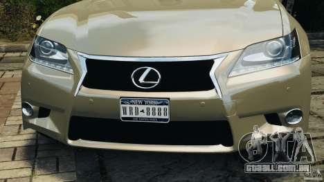 Lexus GS350 2013 v1.0 para GTA 4 rodas