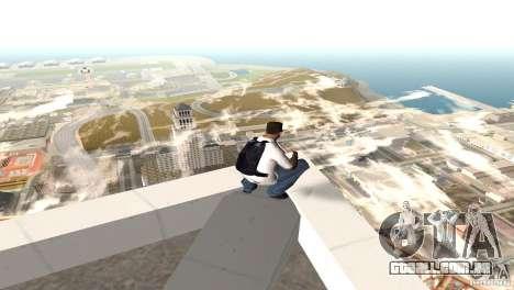 Parašut azul para GTA San Andreas segunda tela