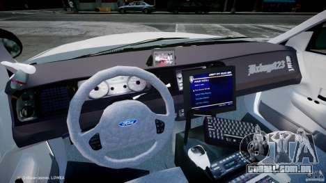 Ford Crown Victoria 2003 FBI Police V2.0 [ELS] para GTA 4 vista de volta