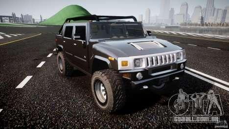 Hummer H2 4x4 OffRoad v.2.0 para GTA 4 vista de volta