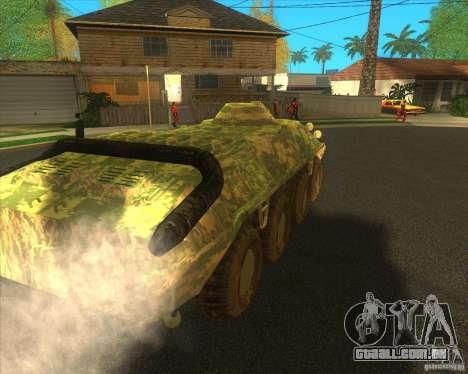 Camuflagem eletrônica BTR-80 para GTA San Andreas traseira esquerda vista