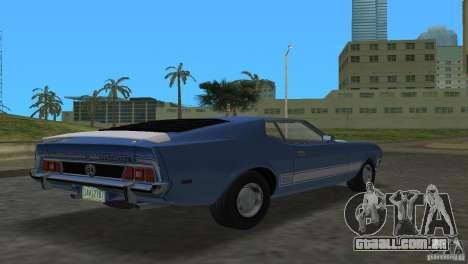 Ford Mustang 1973 para GTA Vice City deixou vista