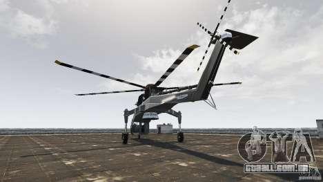 SkyLift Helicopter para GTA 4 traseira esquerda vista