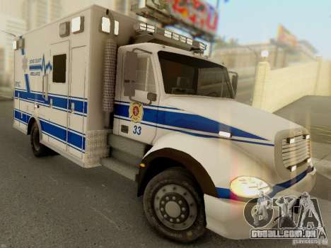 Freightliner Bone County Police Fire Medical para GTA San Andreas vista traseira
