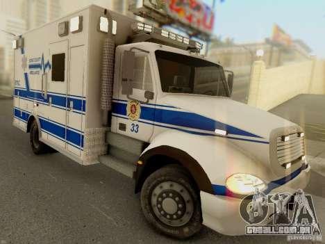 Freightliner Bone County Police Fire Medical para GTA San Andreas vista traseira