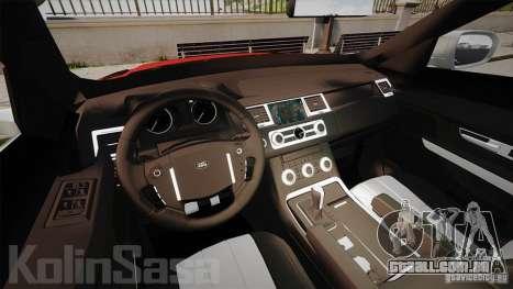 Range Rover Evoque para GTA 4 vista de volta