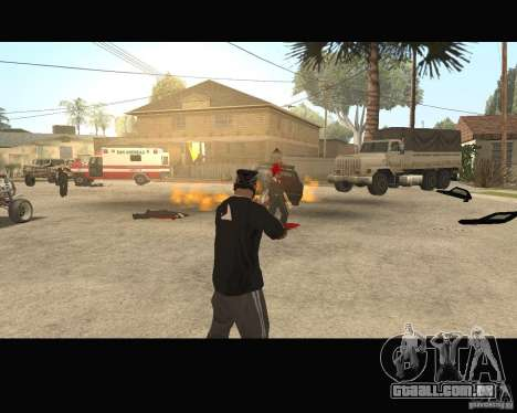 Sangue na tela v2 para GTA San Andreas por diante tela