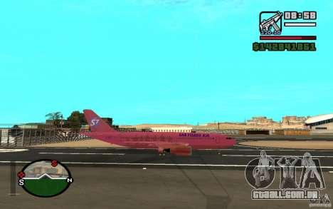 Airbus A-310 S7 SanFierroAir para GTA San Andreas vista direita