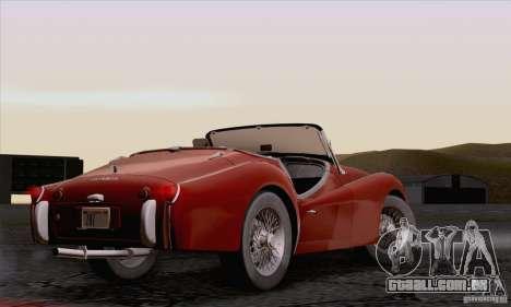 Triumph TR3B 1962 para GTA San Andreas vista interior