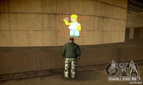 Simpson Graffiti Pack v2 para GTA San Andreas sexta tela