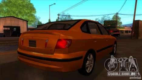 Hyundai Elantra para GTA San Andreas vista direita