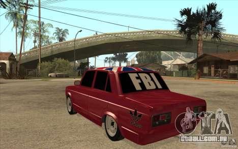 VAZ 2107 Hobo, v. 2 para GTA San Andreas traseira esquerda vista