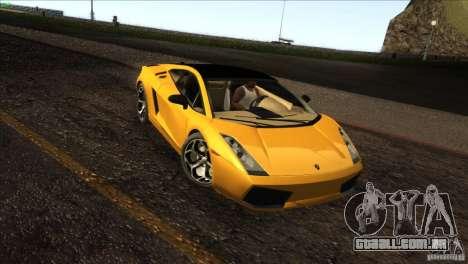 Lamborghini Gallardo SE para GTA San Andreas esquerda vista