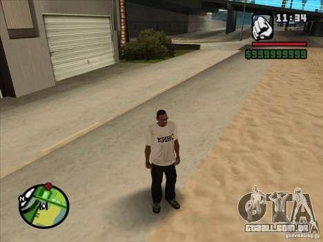 Camiseta filmes para GTA San Andreas terceira tela
