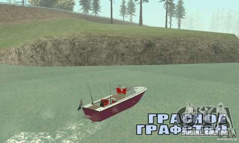Sports Fishing Boat para GTA San Andreas esquerda vista