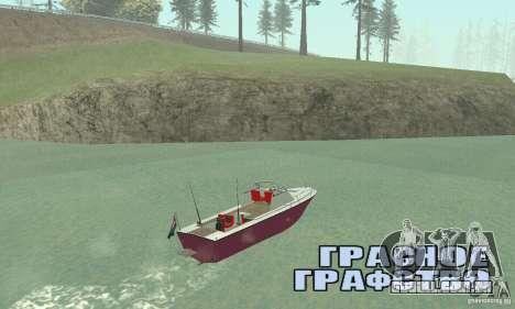 Sports Fishing Boat para GTA San Andreas esquerda vista