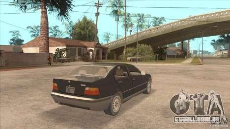 BMW 316i E36 para GTA San Andreas traseira esquerda vista
