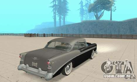 Chevrolet Bel Air 1956 para GTA San Andreas esquerda vista