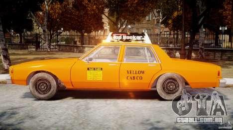 Chevrolet Impala Taxi v2.0 para GTA 4 traseira esquerda vista