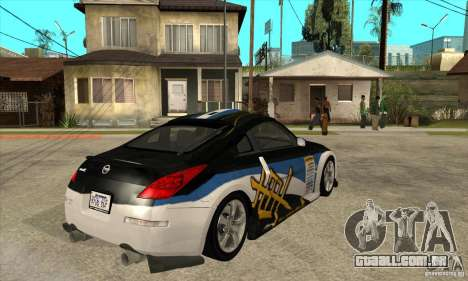 Nissan 350z Stock - Tunable para vista lateral GTA San Andreas