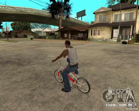 Skyway BMX para GTA San Andreas esquerda vista