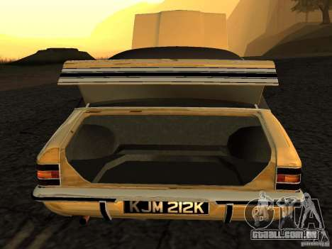Ford Cortina MK 3 Life On Mars para GTA San Andreas vista direita