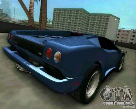 Lamborghini Diablo para GTA Vice City deixou vista